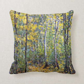 Claude Monet art: Wood Lane, painting by Monet Cushion