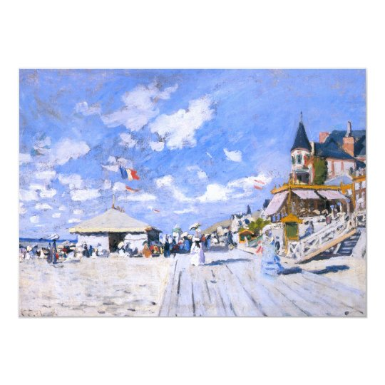 Claude Monet: At the Beach of Trouville Card
