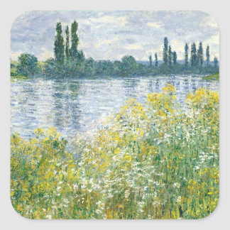 Claude Monet | Banks of the Seine, Vetheuil, 1880 Square Sticker