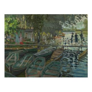 Claude Monet - Bathers at La Grenouillere Postcard