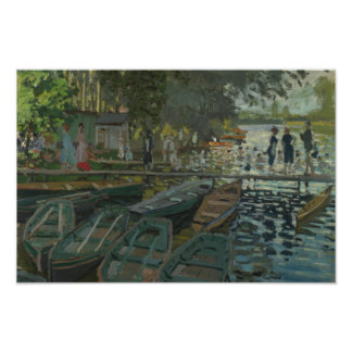 Claude Monet - Bathers at La Grenouillere Poster