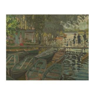 Claude Monet - Bathers at La Grenouillere Wood Print