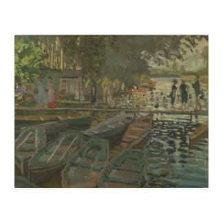 Claude Monet - Bathers at La Grenouillere Wood Wall Decor