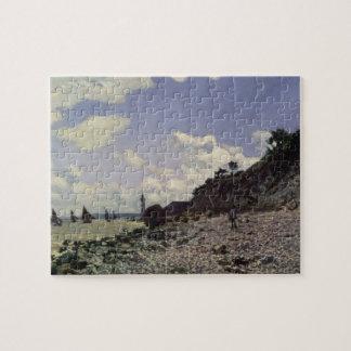 Claude Monet | Beach at Honfleur, 1864 Jigsaw Puzzle