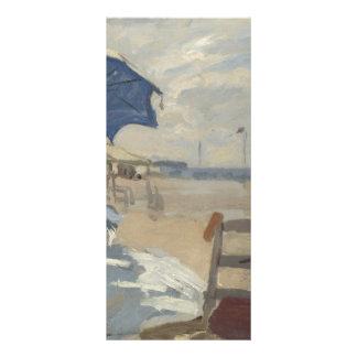 Claude Monet Beach Scene Rack Card Design