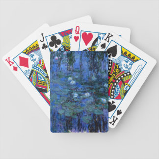Claude Monet Blue Water Lilies Bicycle Playing Cards