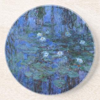 Claude Monet Blue Water Lilies Coaster