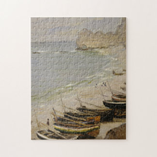 Claude Monet - Boat On The Beach At Etretat Jigsaw Puzzle