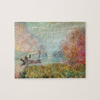 Claude Monet |  Boat Studio on the Seine Jigsaw Puzzle