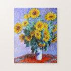 Claude Monet Bouquet of Sunflowers Jigsaw Puzzle