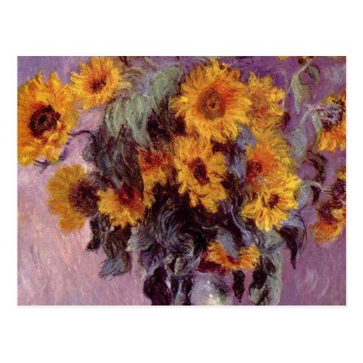 Claude Monet - Bouquet of Sunflowers Postcard