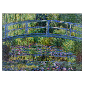 Claude Monet: Bridge Over a Pond of Water Lilies Cutting Board