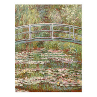 Claude Monet - Bridge Over a Pond of Water Lilies Postcard