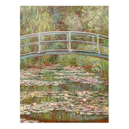 Claude Monet - Bridge Over a Pond of Water Lilies Post Card