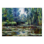 Claude Monet Bridge Over Water Lily Pond Greeting Card