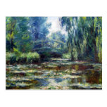 Claude Monet Bridge Over Water Lily Pond Post Card