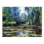 Claude Monet Bridge Over Water Lily Pond Postcard