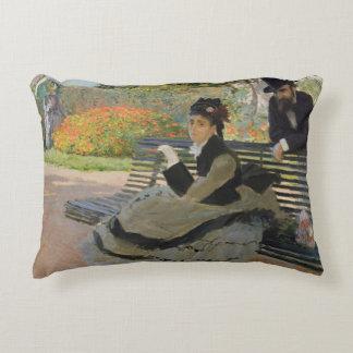 Claude Monet - Camille Monet on a Bench Decorative Cushion
