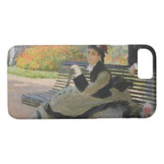 Claude Monet - Camille Monet on a Bench iPhone 8/7 Case