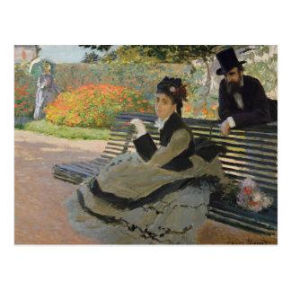 Claude Monet - Camille Monet on a Bench Postcard