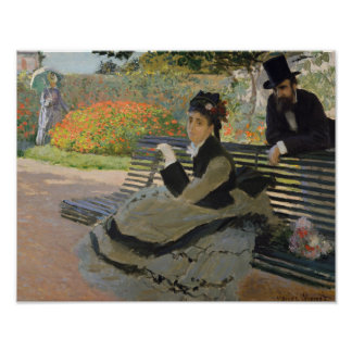 Claude Monet - Camille Monet on a Bench Poster