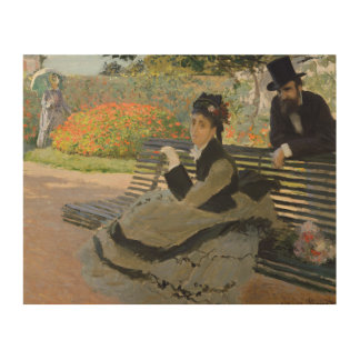 Claude Monet - Camille Monet on a Bench Wood Wall Decor
