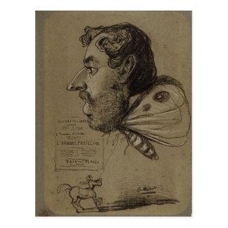 Claude Monet Caricature of Jules Didier c. 1860 Te Postcard