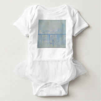 Claude Monet - Charing Cross Bridge. Classic Art Baby Bodysuit