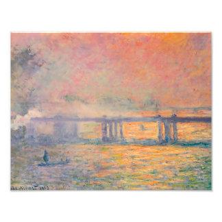 Claude Monet Charing Cross Bridge Photo Art