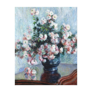 Claude Monet Chrysanthemums Canvas Print