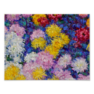 Claude Monet - Chrysanthemums Poster