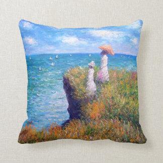 Claude Monet: Cliff Walk at Pourville Cushion