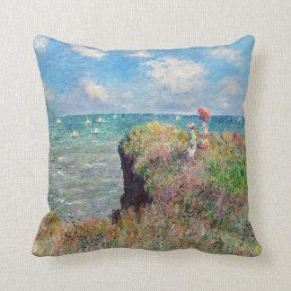 Claude Monet Cliff Walk at Pourville Cushion
