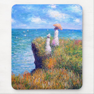 Claude Monet: Cliff Walk at Pourville Mouse Pad