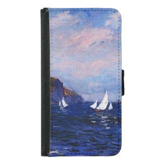 Claude Monet-Cliffs and Sailboats at Pourville