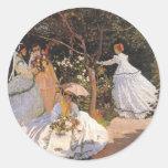 Claude Monet Fine Art Stickers