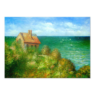 Claude Monet: Fishermans Cottage At Varengeville Card