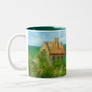 Claude Monet: Fishermans Cottage At Varengeville Two-Tone Coffee Mug