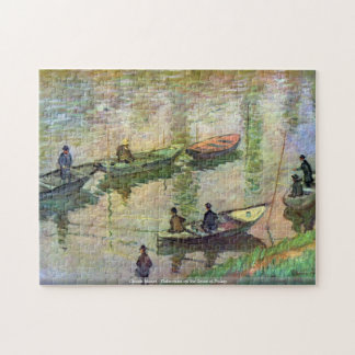 Claude Monet - Fishermen on the Seine at Poissy Puzzles