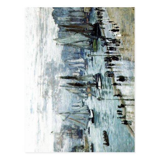 Claude Monet, Fishing Boats Leaving the Harbor, Le Postcards