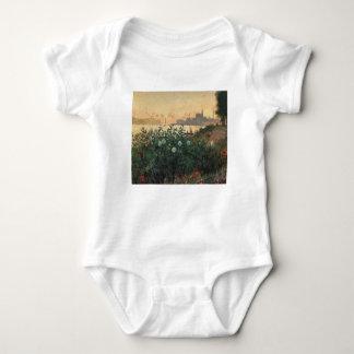 Claude Monet - Flowered Riverbank Argenteuil Baby Bodysuit