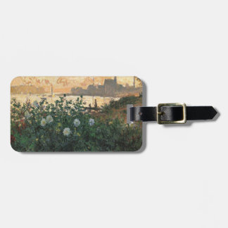 Claude Monet - Flowered Riverbank Argenteuil Luggage Tag