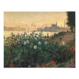 Claude Monet - Flowered Riverbank Argenteuil Photo Print