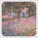 Claude Monet // Garden at Giverny Square Stickers