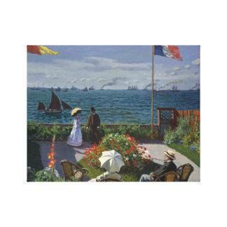 Claude Monet - Garden at Sainte-Adresse Canvas Print