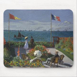 Claude Monet - Garden at Sainte-Adresse Mouse Pad