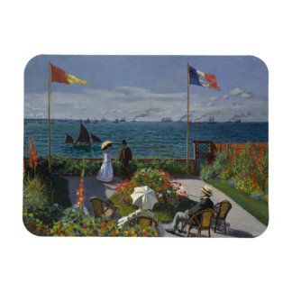 Claude Monet - Garden at Sainte-Adresse Rectangular Photo Magnet