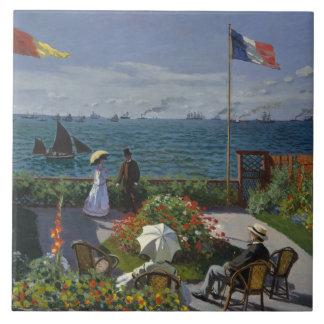 Claude Monet - Garden at Sainte-Adresse Tile
