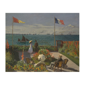Claude Monet - Garden at Sainte-Adresse Wood Wall Decor