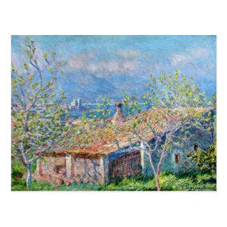 Claude Monet: Gardeners House at Antibes Postcard